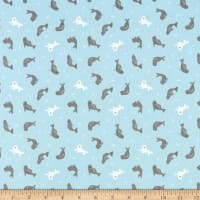 Lewis & Irene Small Things By The Sea Seals Light Blue