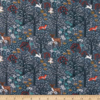 Lewis & Irene Winter In Bluebell Wood Winter Woods Dark Grey/Blue