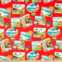 Alexander Henry Fabrics Rally Scrapbook Red