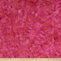 Island Batik British Rose Dragonfly Raspberry