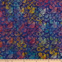 Island Batik Dragonfly Dreams 2 Mixed Birds Wisteria