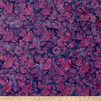 Island Batik Dragonfly Dreams 2  Mixed Birds Blurple