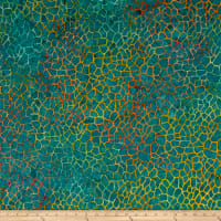 Island Batik Fur-ocious Friends Giraffe Teal