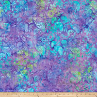 Island Batik Lavendula Lavadin Mixed Birds Grape
