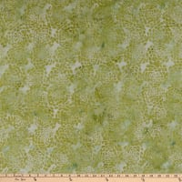 Island Batik Whatnot Flower Light Green