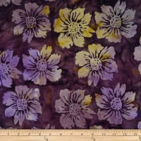 Batik by Mirah Bonanza Florals Cinema Purple