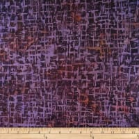Batik by Mirah Bonanza Crosshatches Burnt Purple