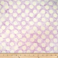 Batik by Mirah Cream Cherise Dots Lavanda Purple