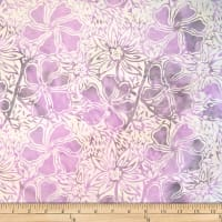Batik by Mirah Cream Cherise Florals Grace Purple