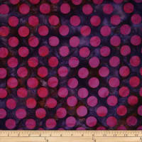 Batik by Mirah Flamenco Dots Grape Purple