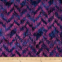 Batik by Mirah Flamenco Crosshatches Pink/Blue Fence