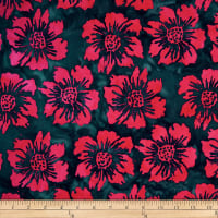 Batik by Mirah Flamenco Florals Smoke Pink