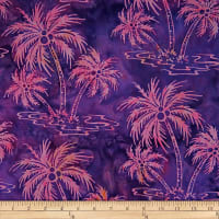 Batik by Mirah Flamenco Palm Trees Pink Ice