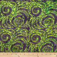 Batik by Mirah Peapod Abstract Prints Swirl Green