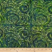 Batik by Mirah Peapod Abstract Prints Road Leaf Green