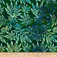 Batik by Mirah Peapod Palm Leaves Turkana Green