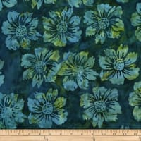 Batik by Mirah Peapod Florals Brush Wood Blue