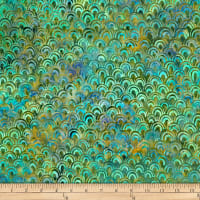 Batik by Mirah Peapod Scales Inca Green
