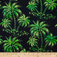 Batik by Mirah Peapod Palm Trees Mint Moca Green