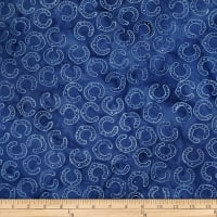 Batik by Mirah Pop Up Horsehoes Floating Blue