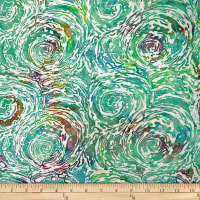 Batik by Mirah Subtle Slate Abstract Prints Artico Green