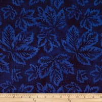 Batik by Mirah Blue Chase Leaves Tender Cobalt