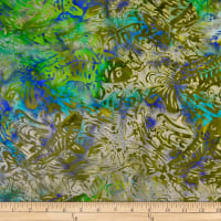 Batik by Mirah Coast to Coast Fish Acacia Green