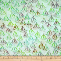 Batik by Mirah Day Cruise Sailboats Harbor Green