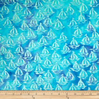 Batik by Mirah Day Cruise Sailboats Blue Exit