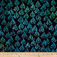 Batik by Mirah Day Cruise Sailboats Spalding Blue