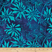 Batik by Mirah Day Cruise Florals Plum Blue