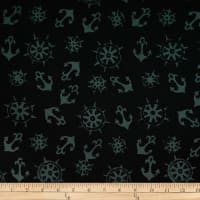 Batik by Mirah Night Cruise Anchors Black Grey