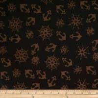 Batik by Mirah Night Cruise Anchors Brown Black