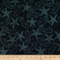 Batik by Mirah Night Cruise Seahorses Black Grey