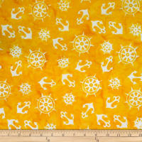 Batik by Mirah Peach Bite Anchors Buttery Yellow