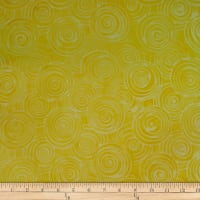 Batik by Mirah Peach Bite Swirls Yellow Mango