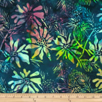 Batik by Mirah Rum Raisin Florals Crown Blue