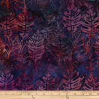 Batik by Mirah Rum Raisin Leaves Age Blue