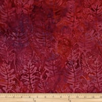 Batik by Mirah Rum Raisin Leaves Henna Red