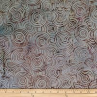 Batik by Mirah Rum Raisin Swirls Rose Grey