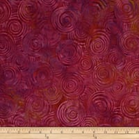 Batik by Mirah Rum Raisin Swirls Henna Red