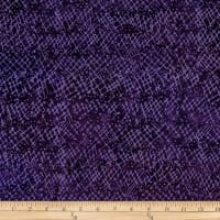Batik by Mirah Rum Raisin Crosshatches Burnt Violet