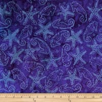 Batik by Mirah Rum Raisin Seahorses Purple Romance