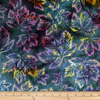 Batik by Mirah Rum Raisin Leaves Mora Berry Blue