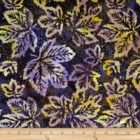 Batik by Mirah Rum Raisin Leaves Royal Purple