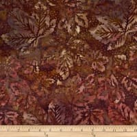 Batik by Mirah Rum Raisin Leaves Gwalior Brown