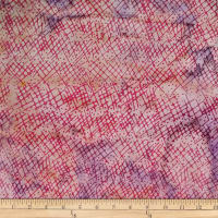 Batik by Mirah Salsa Crosshatches Popsickle Pink