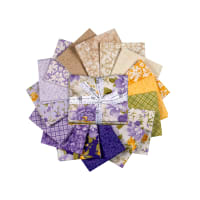 Kaufman Fat Quarter Bundles Beckford Terrace Wisteria, 16 pcs.
