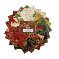 "Kaufman 5"" Charm Squares Holiday Flourish Holiday 42pcs"