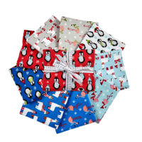 Kaufman Bundled Buddies Flannel Fat Quarter Bundle 9 pcs
